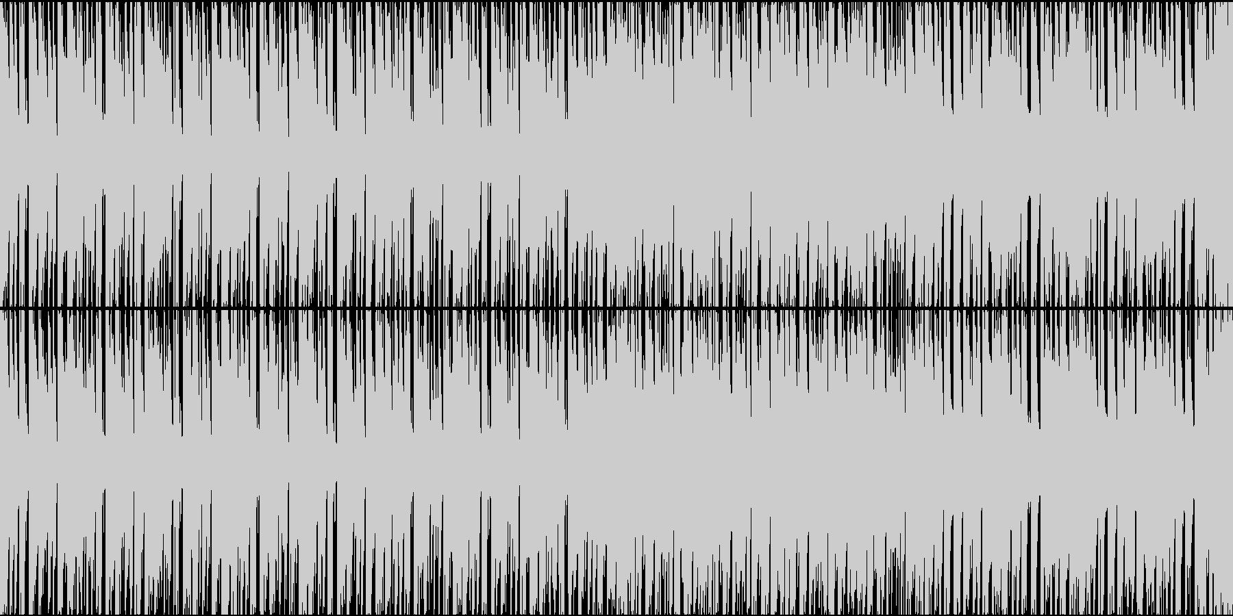 緊迫感のあるエレクトロニックなループの未再生の波形