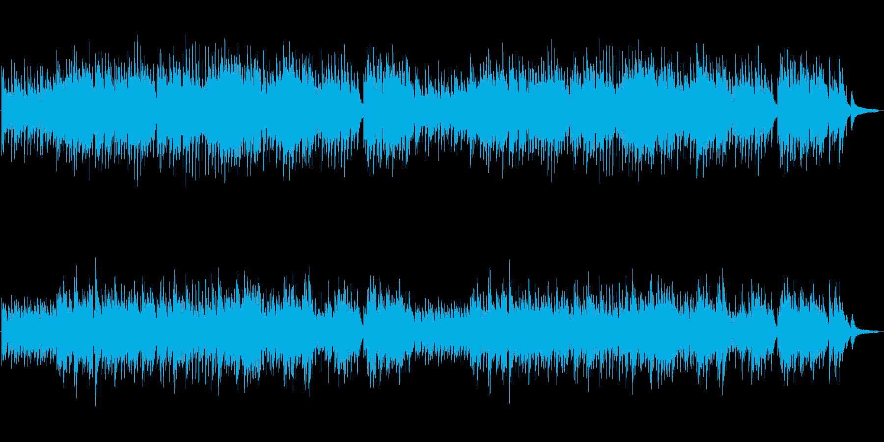 ナレーションの邪魔にならないピアノBGMの再生済みの波形