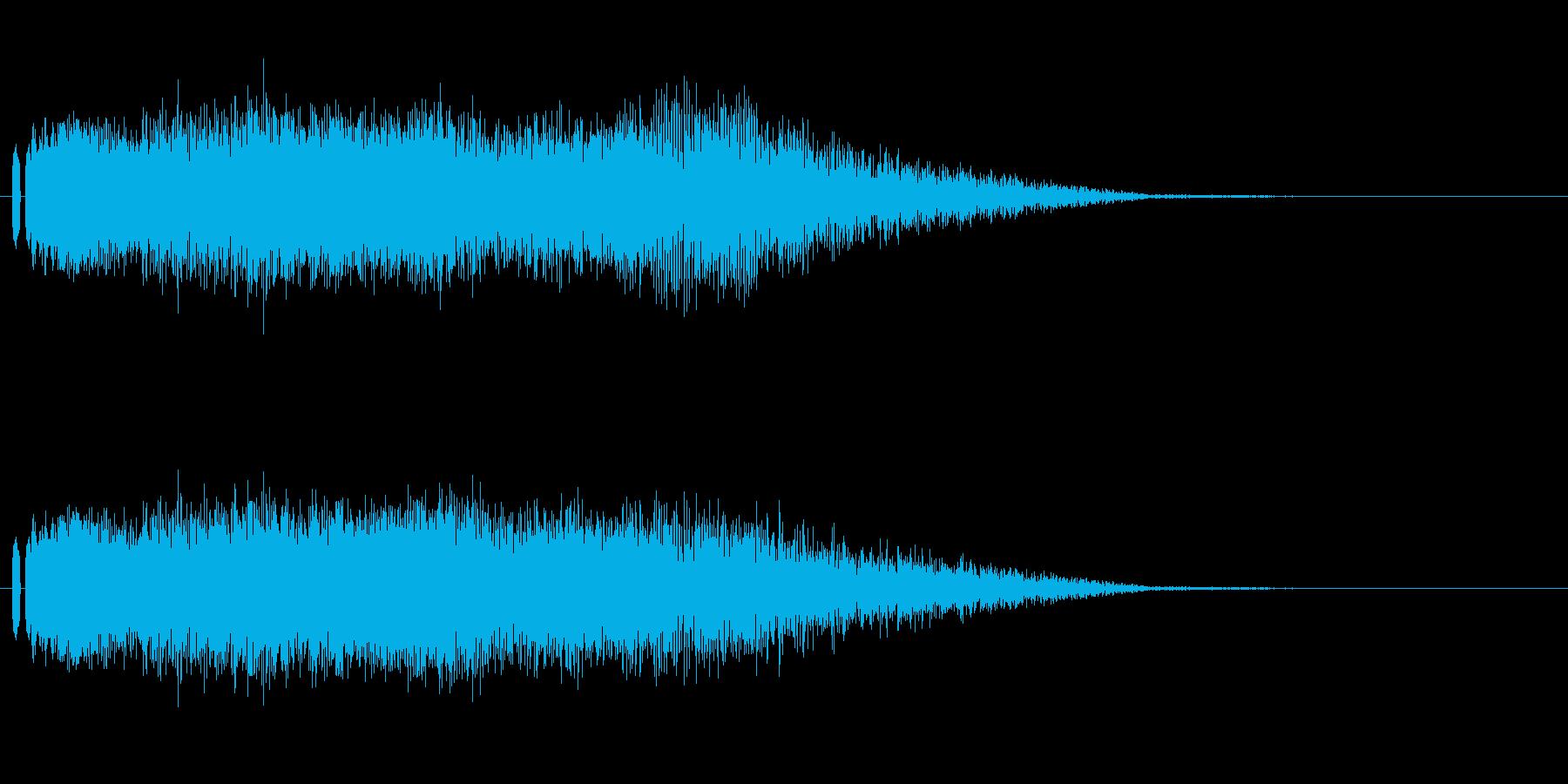 ビームの音。の再生済みの波形