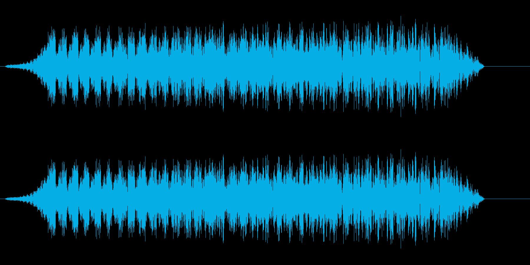 猫より少し大きい動物の鳴き声注意音の再生済みの波形