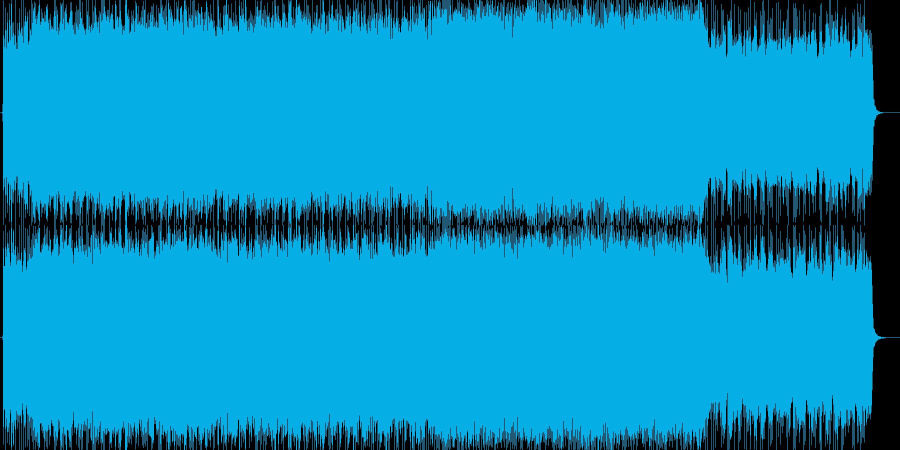 重厚感・スピード感のある激しいロックの再生済みの波形