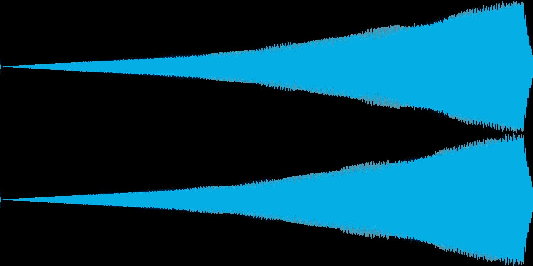 ノイジーな迫ってくる音の再生済みの波形