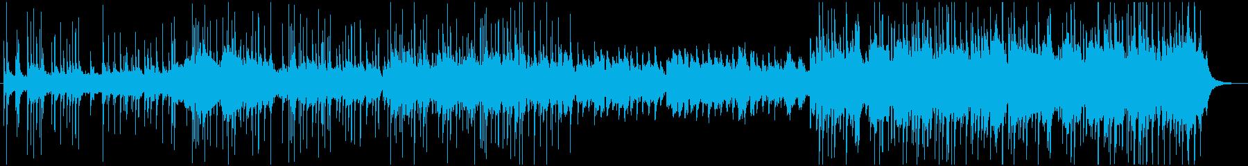 琴と三味線による夏をイメージした和風曲の再生済みの波形