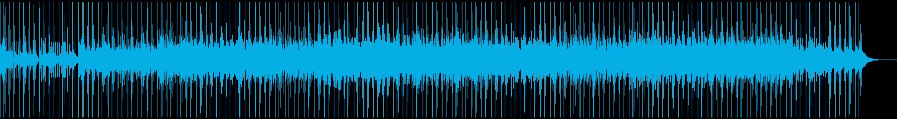 爽やかなリラックス系BGMの再生済みの波形