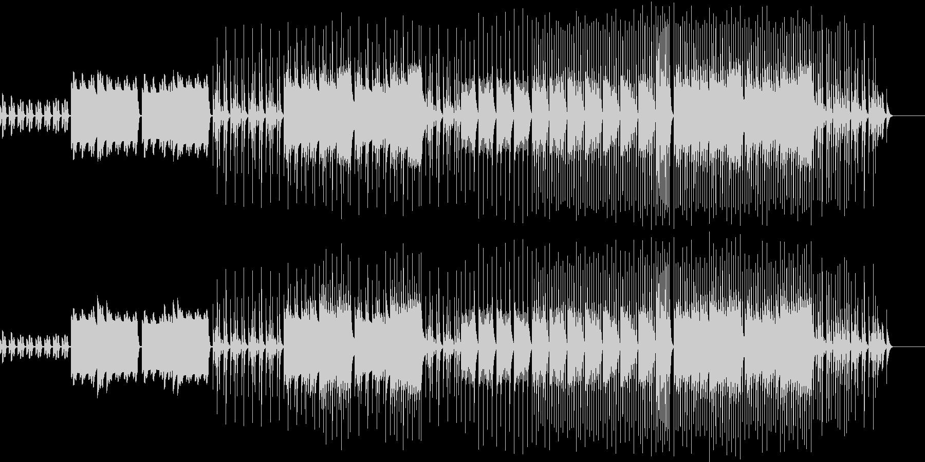 ほのぼのとしたピアノとリコーダーの曲の未再生の波形