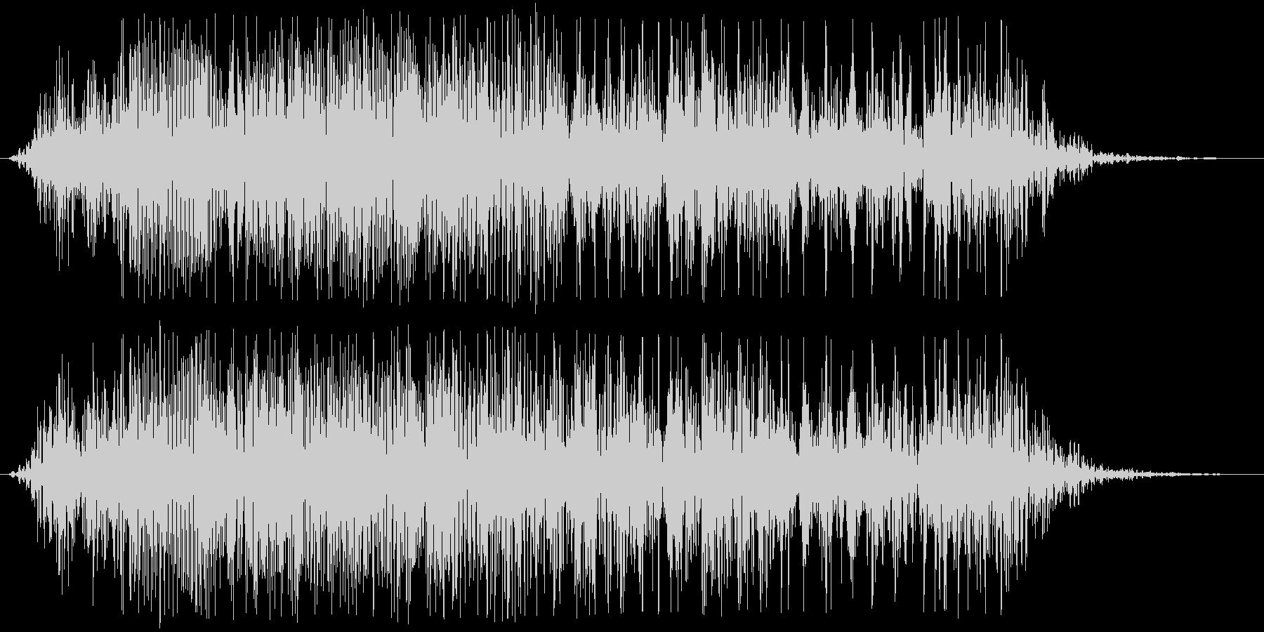 アフリカライオンの咆哮(少し長め)の未再生の波形