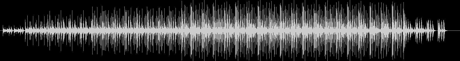 ナチュラルでエレクトロニカなBGMの未再生の波形