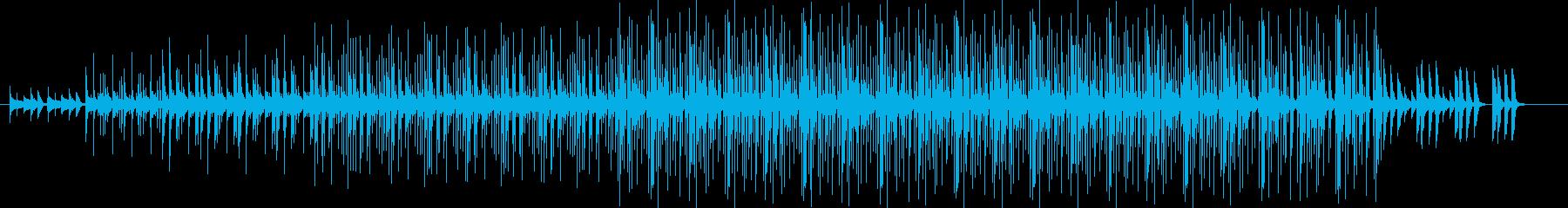 ナチュラルでエレクトロニカなBGMの再生済みの波形