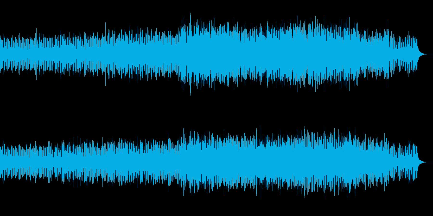アジア風反復ミュージックの再生済みの波形