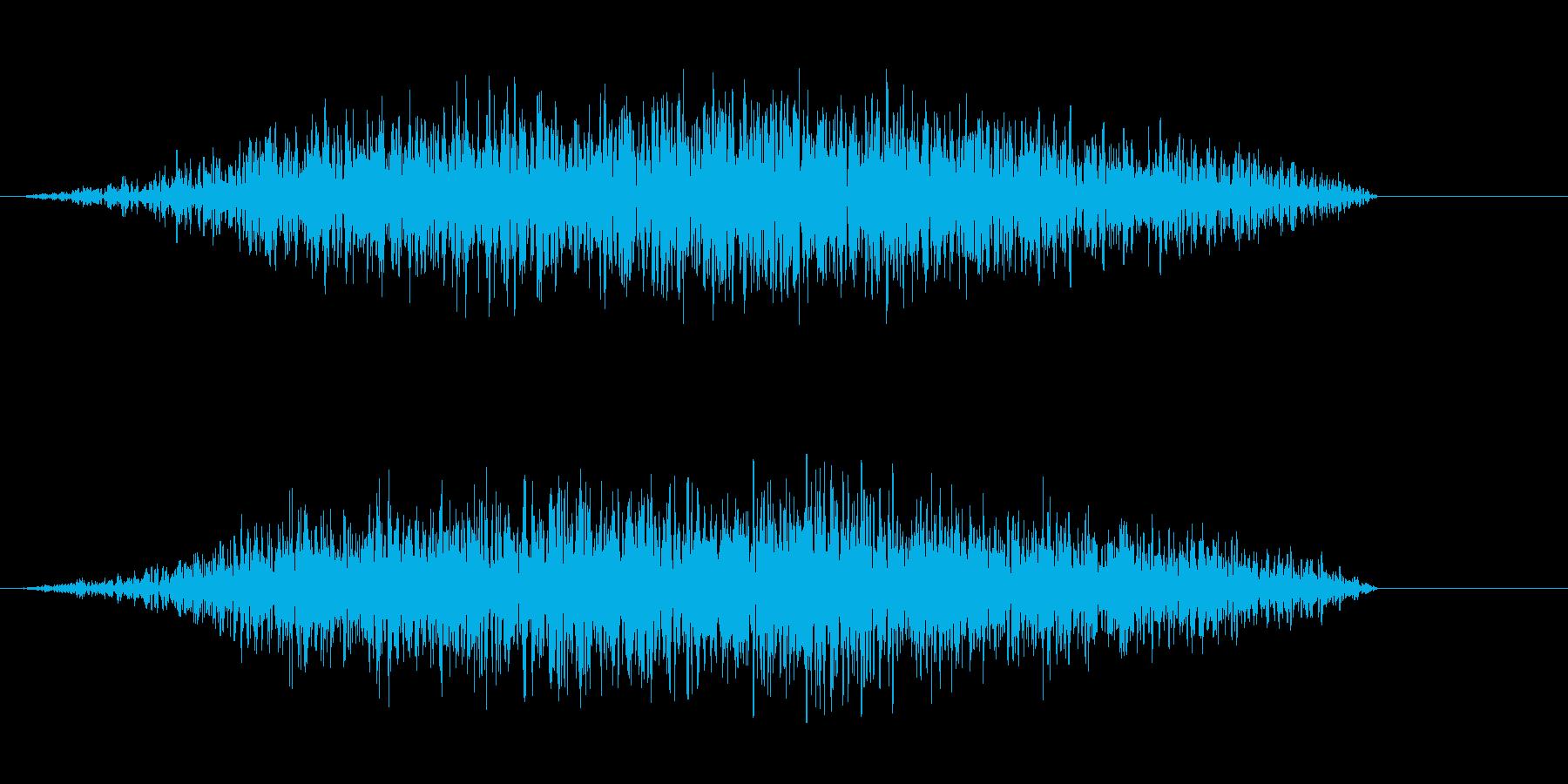 強風のビューという音の再生済みの波形
