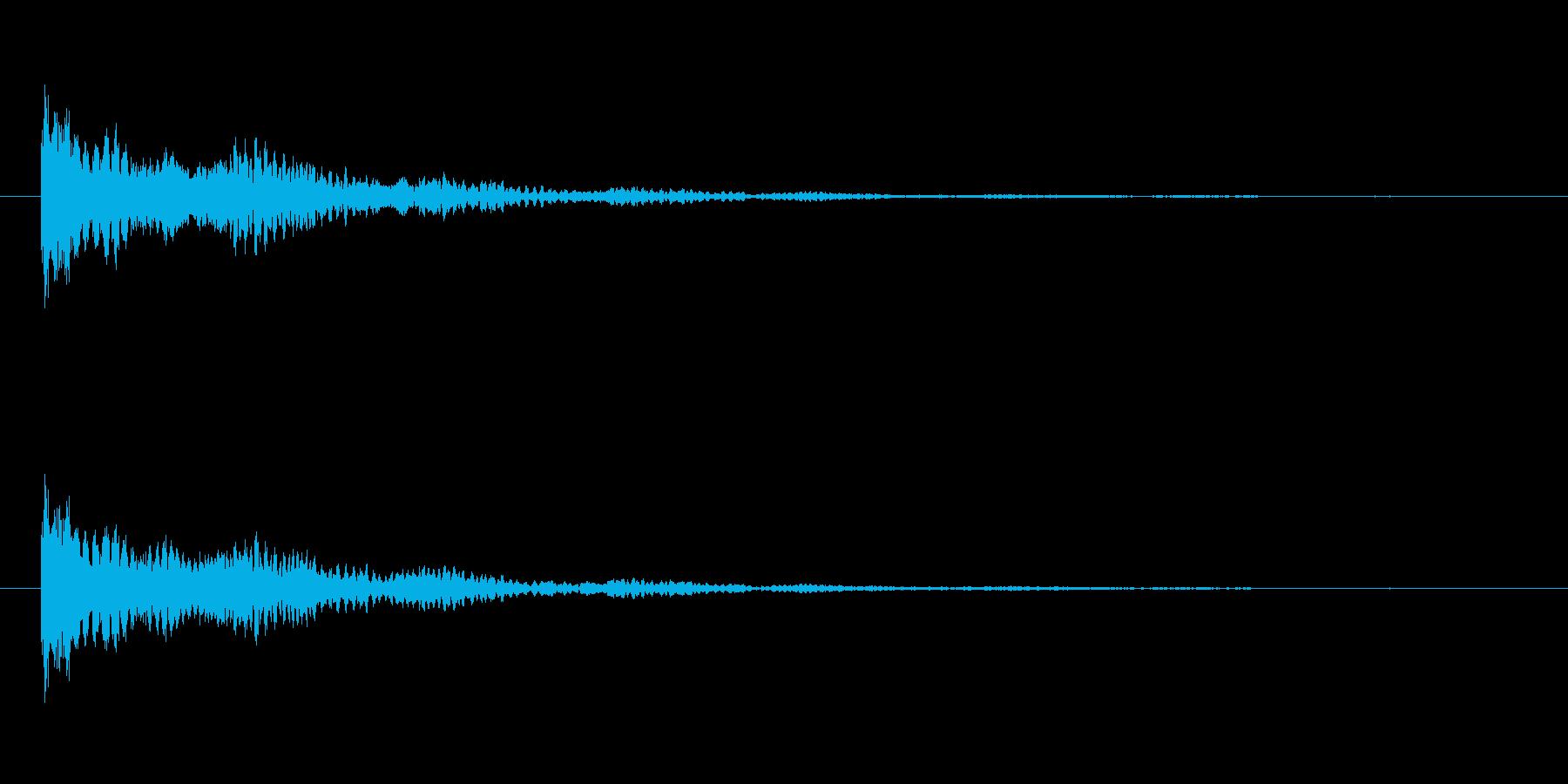 【ネガティブ01-2】の再生済みの波形