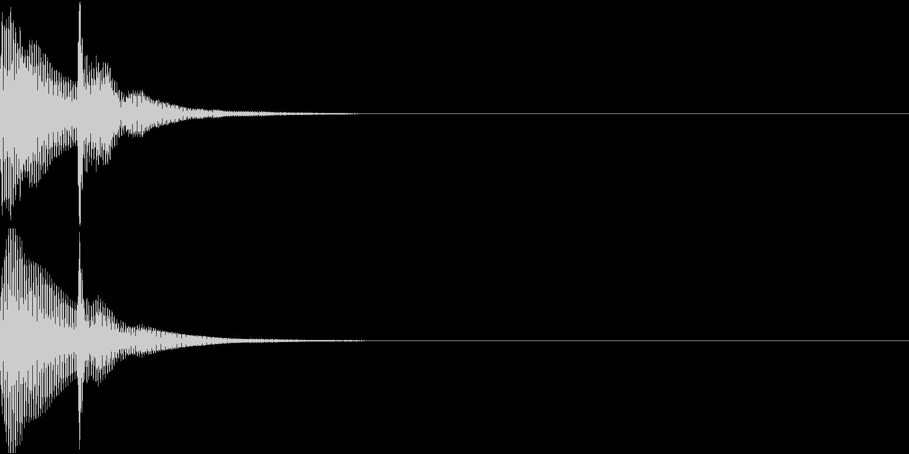 決定音03(ポコンッ)の未再生の波形