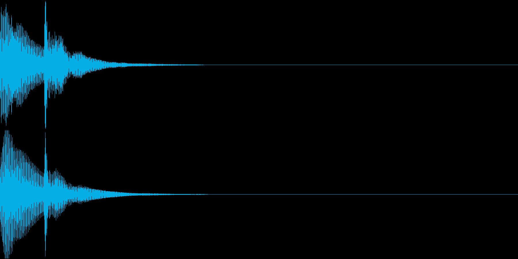 決定音03(ポコンッ)の再生済みの波形