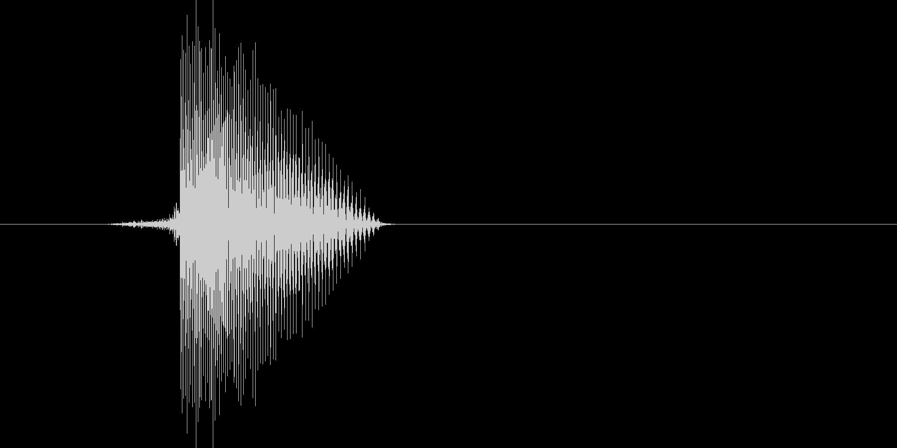 ゲーム(ファミコン風)ヒット音_050の未再生の波形