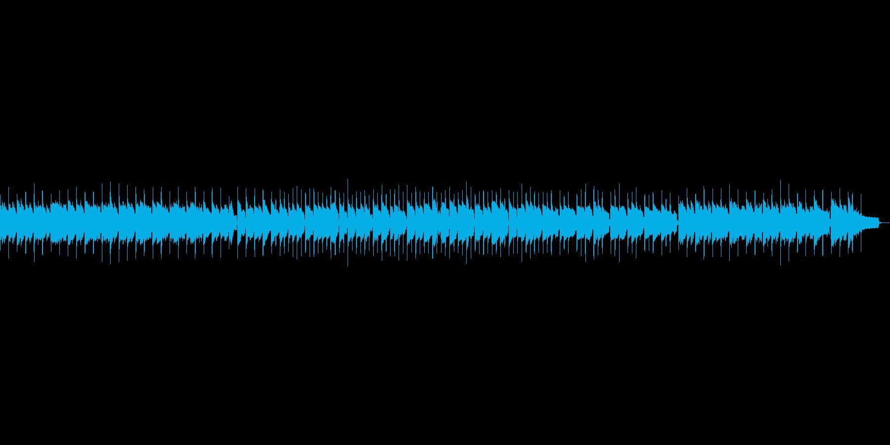 かわいいオルゴール風のBGMの再生済みの波形