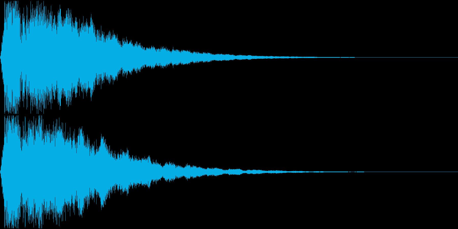 キュイン ギュイーン シャキーン 01の再生済みの波形