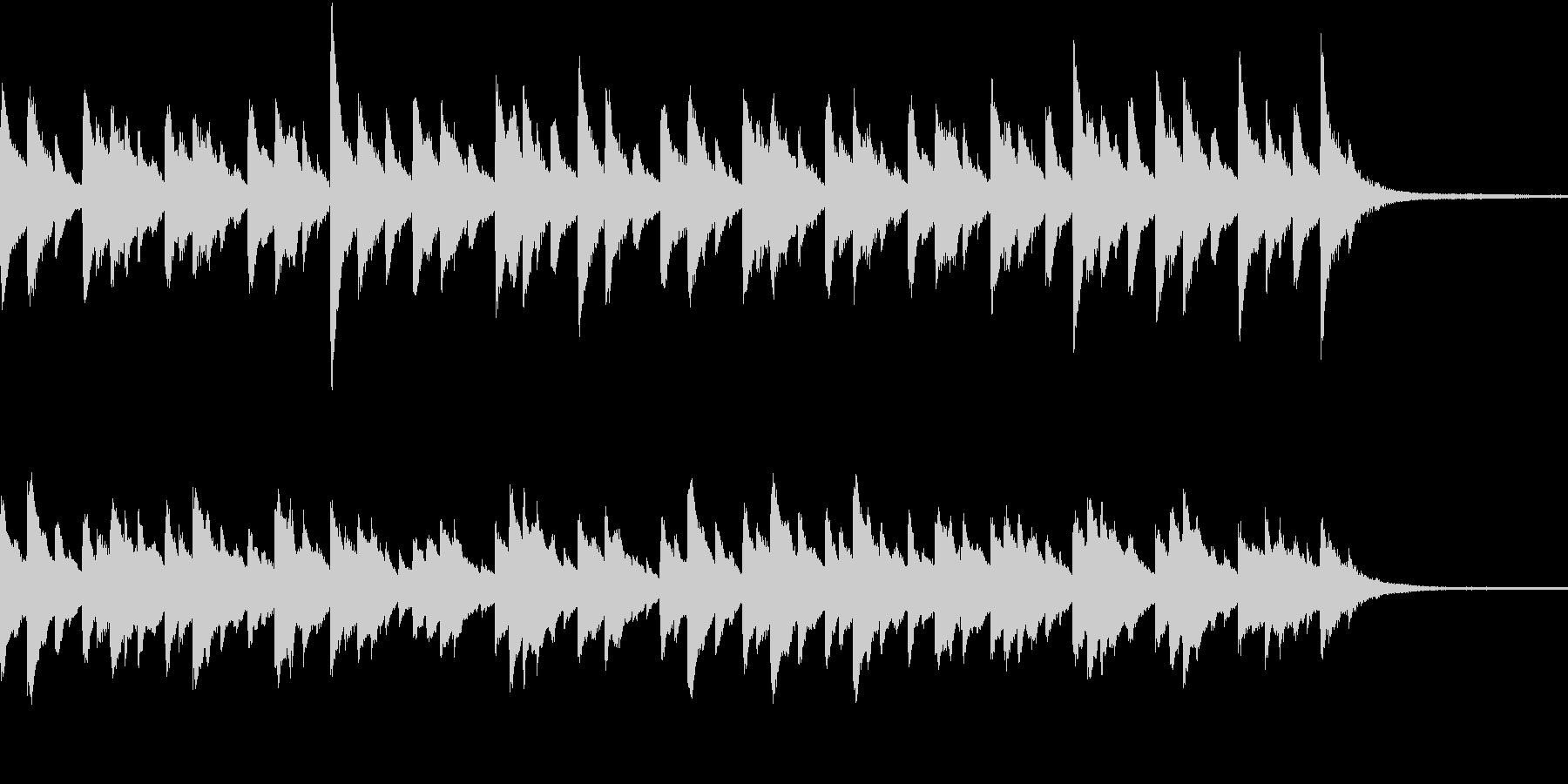 ピアノ曲30秒CMの未再生の波形