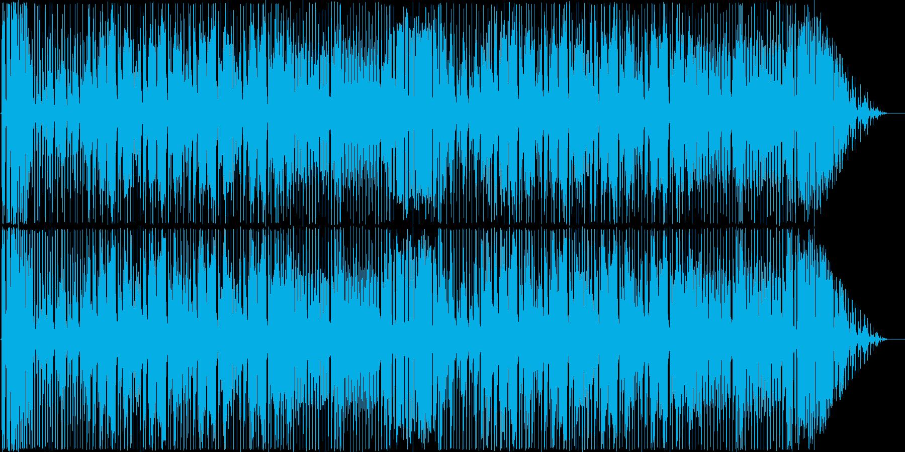 疾走感のあるファンクの再生済みの波形