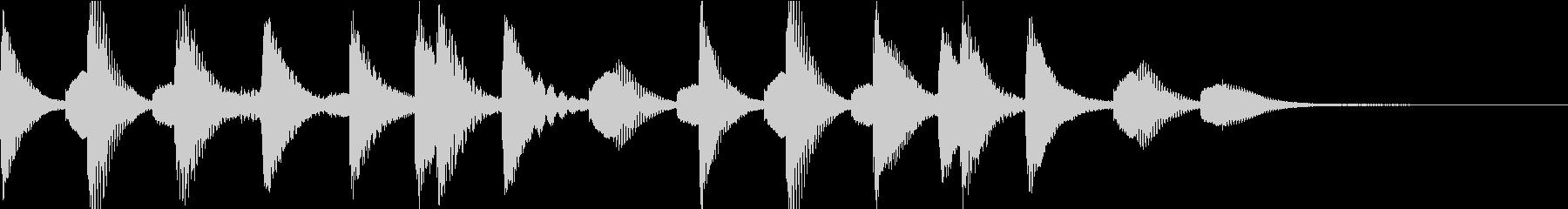 マリンバ短めジングル アイキャッチの未再生の波形