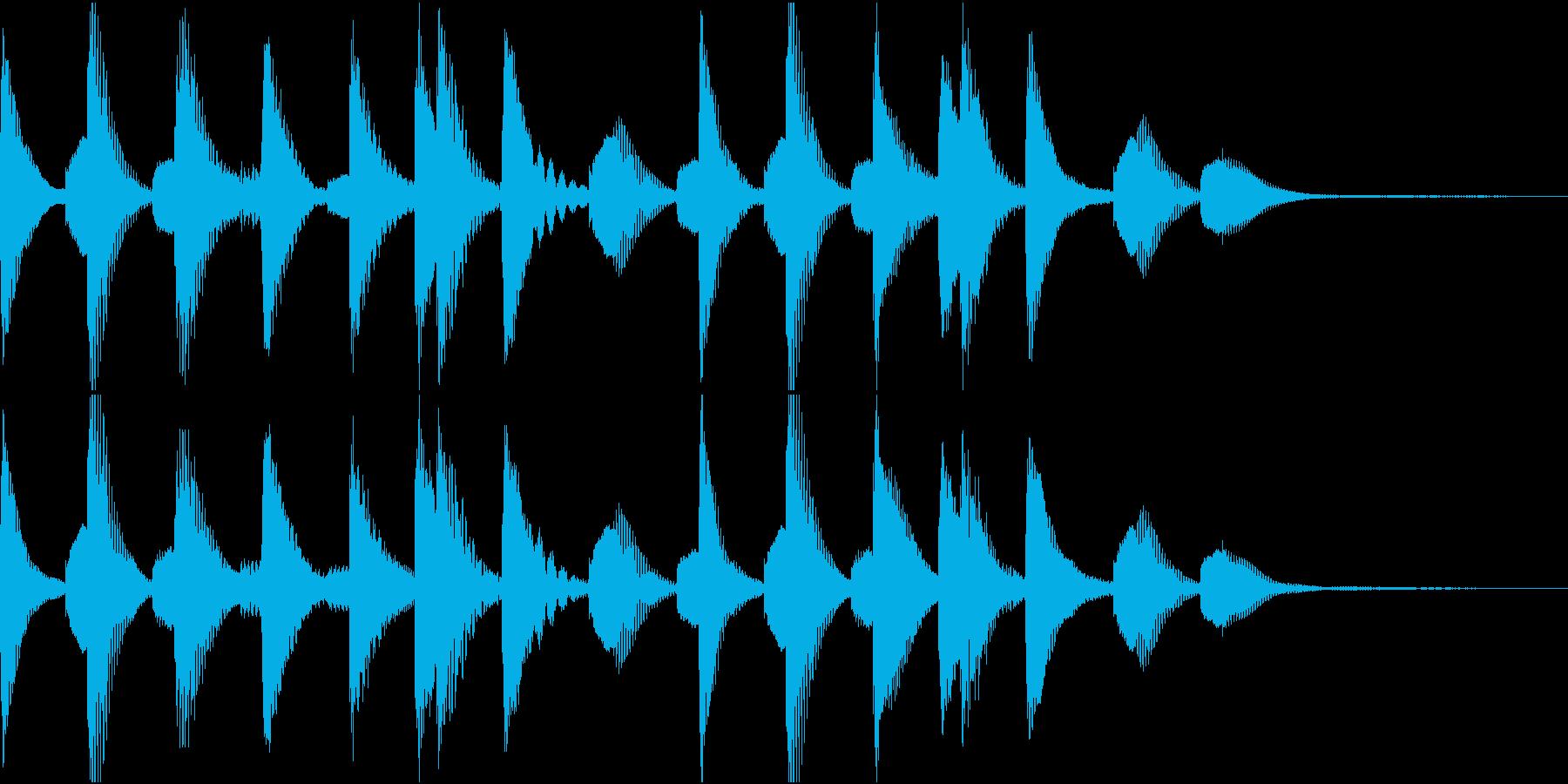 マリンバ短めジングル アイキャッチの再生済みの波形