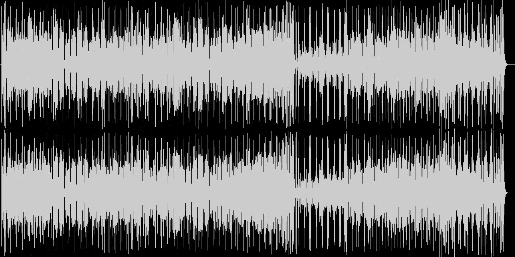 ドラムスとギターの音がカッコいいロックの未再生の波形