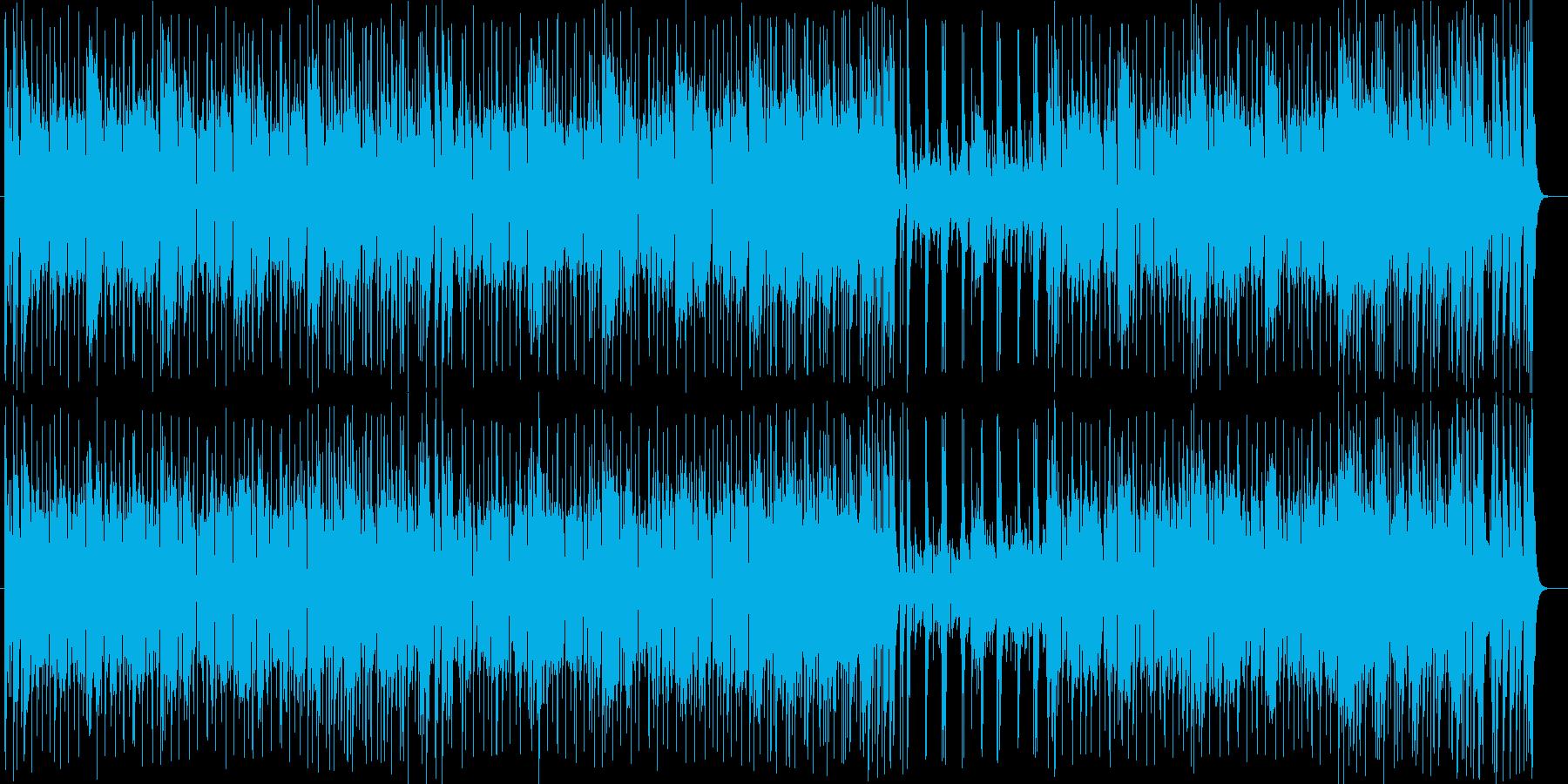 ドラムスとギターの音がカッコいいロックの再生済みの波形