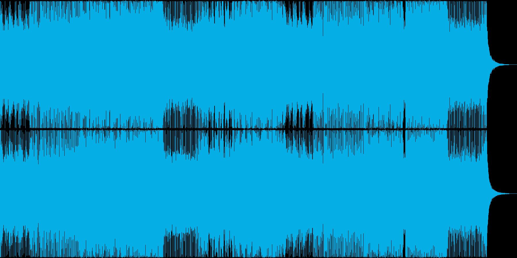 アッパーなリフによるデジタルロックの再生済みの波形