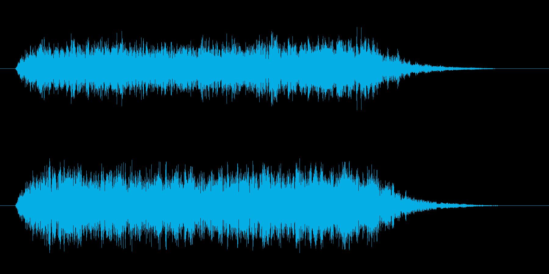勇壮な幻想的なコーラス 荘厳に 低音中心の再生済みの波形