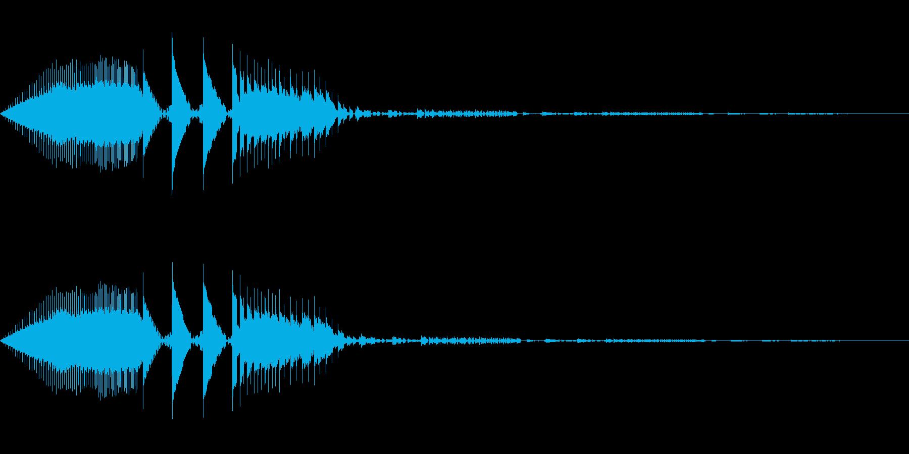 ブロック移動(8bit風)の再生済みの波形