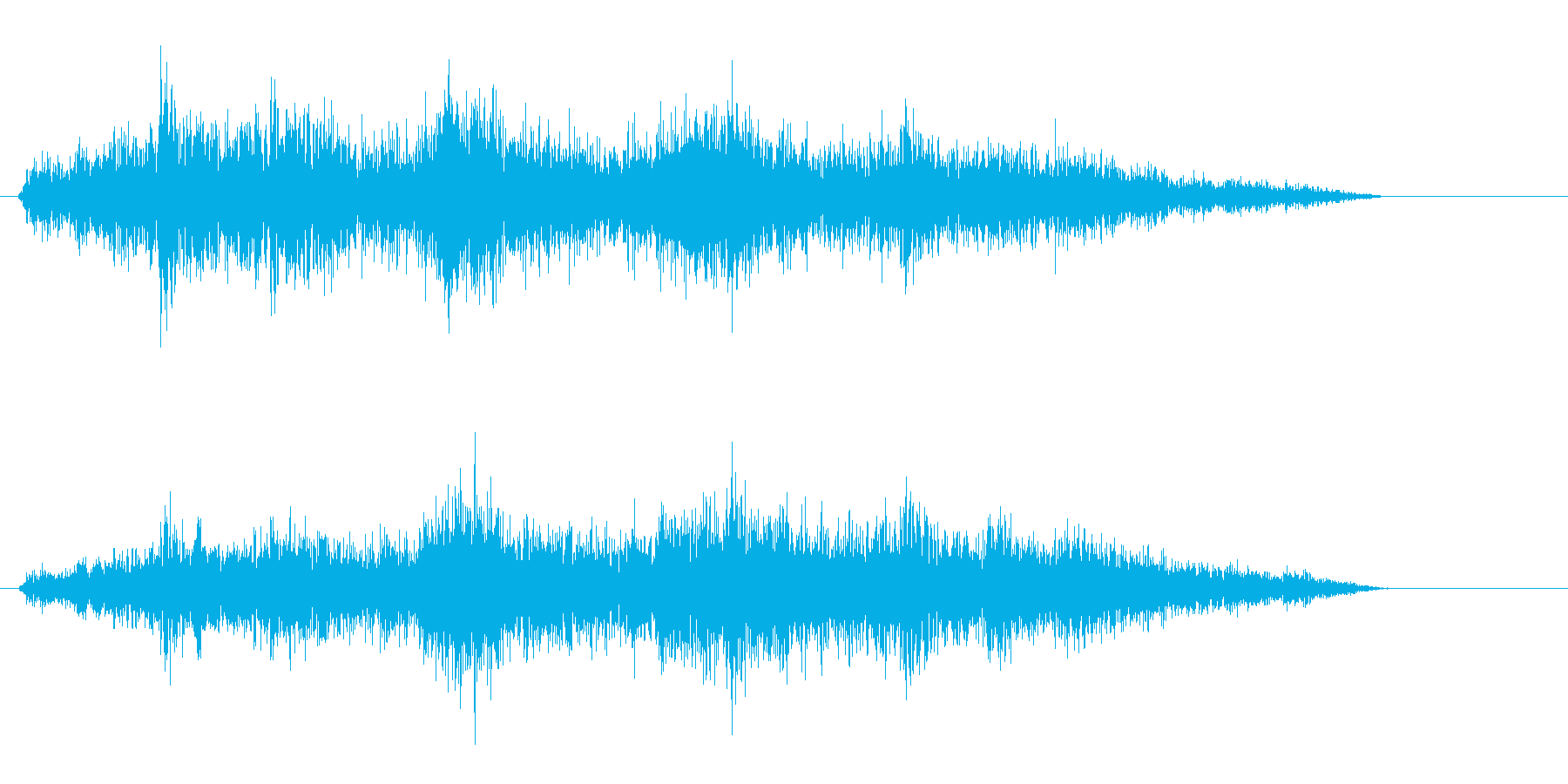 シャァァ〜(短い音)の再生済みの波形