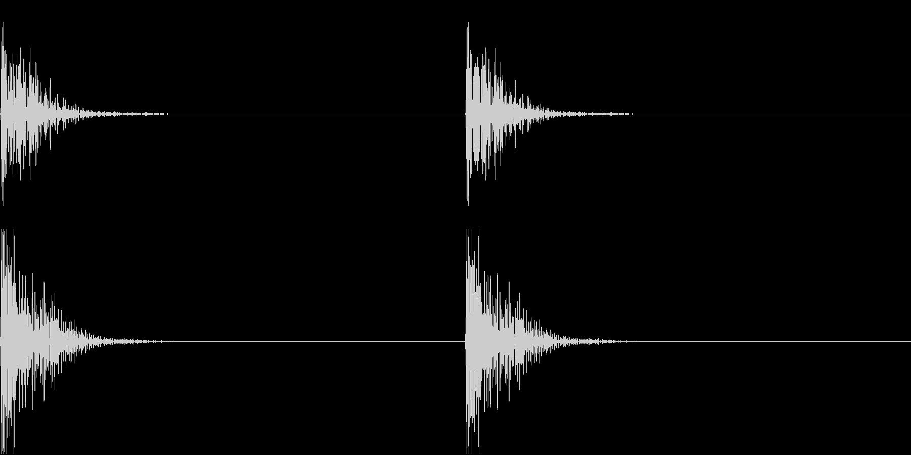 DIY 釘を打つ金槌の音 コンコンの未再生の波形