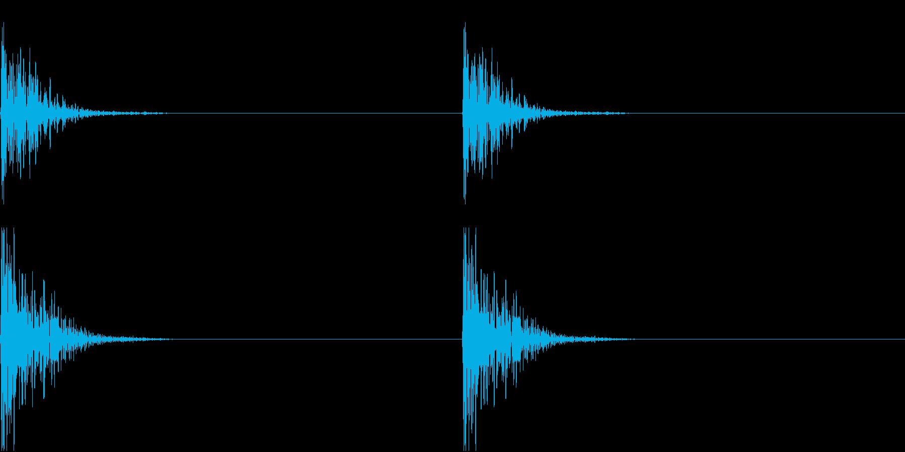 DIY 釘を打つ金槌の音 コンコンの再生済みの波形