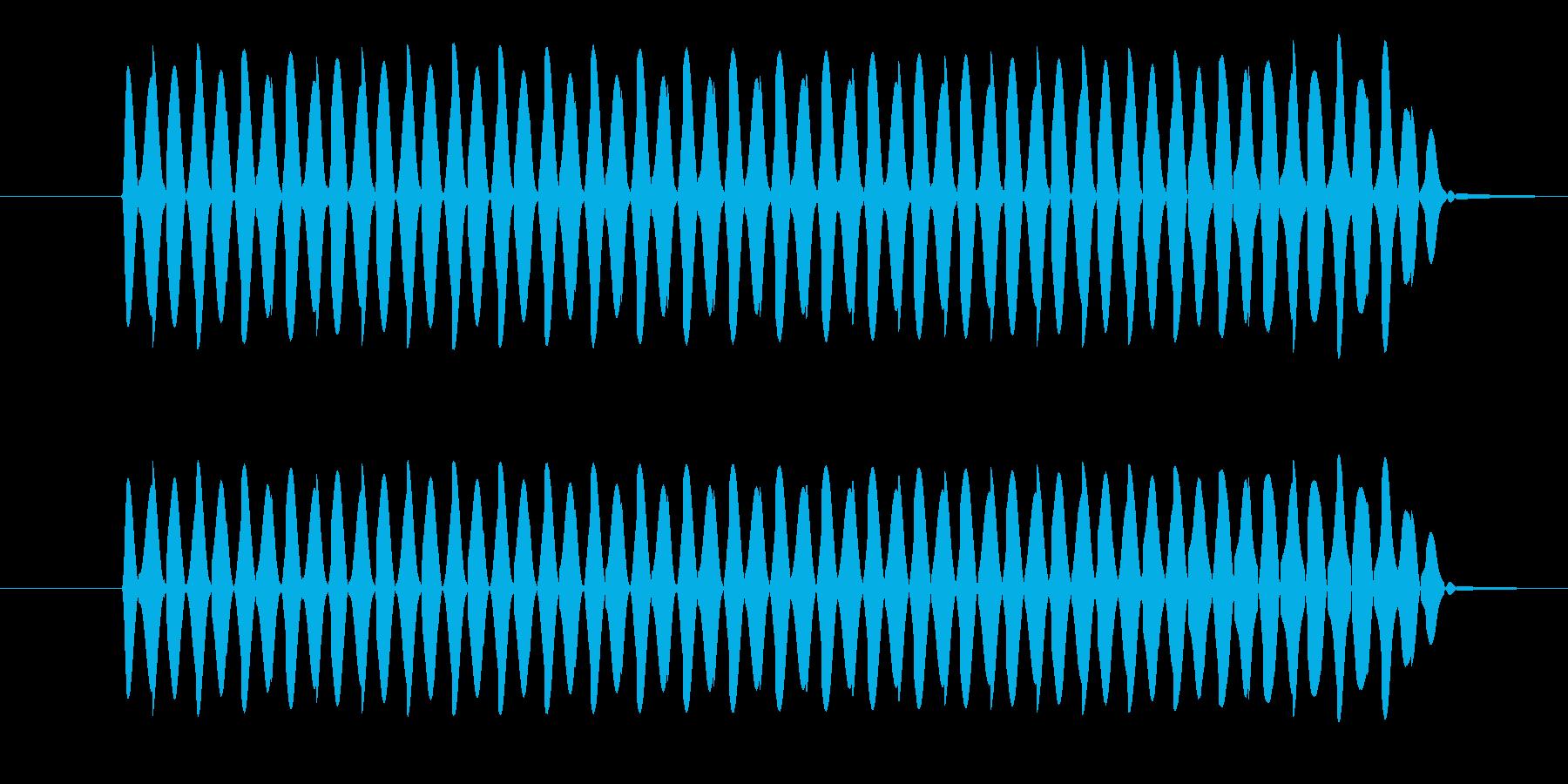 ゲーム、クイズ(ブー音)_005の再生済みの波形