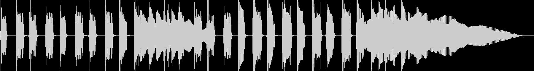 ポップでコミカルなジングルの未再生の波形