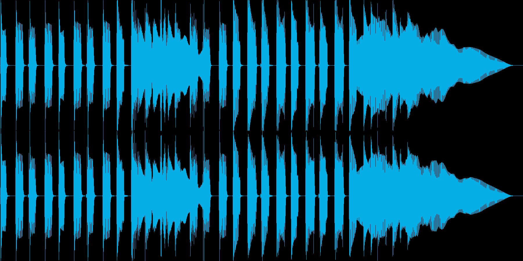 ポップでコミカルなジングルの再生済みの波形