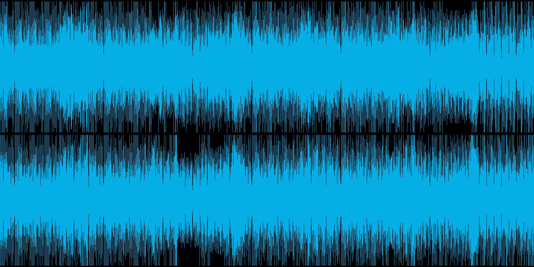 オープニング向き、軽快なBGM(ループ)の再生済みの波形