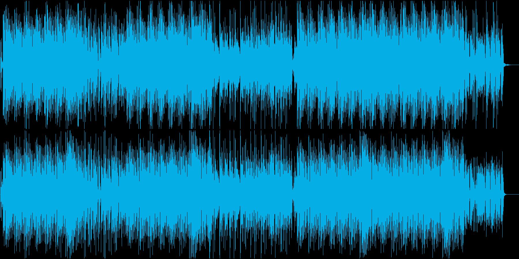 琴と三味線のおしゃれでポップな和風曲の再生済みの波形