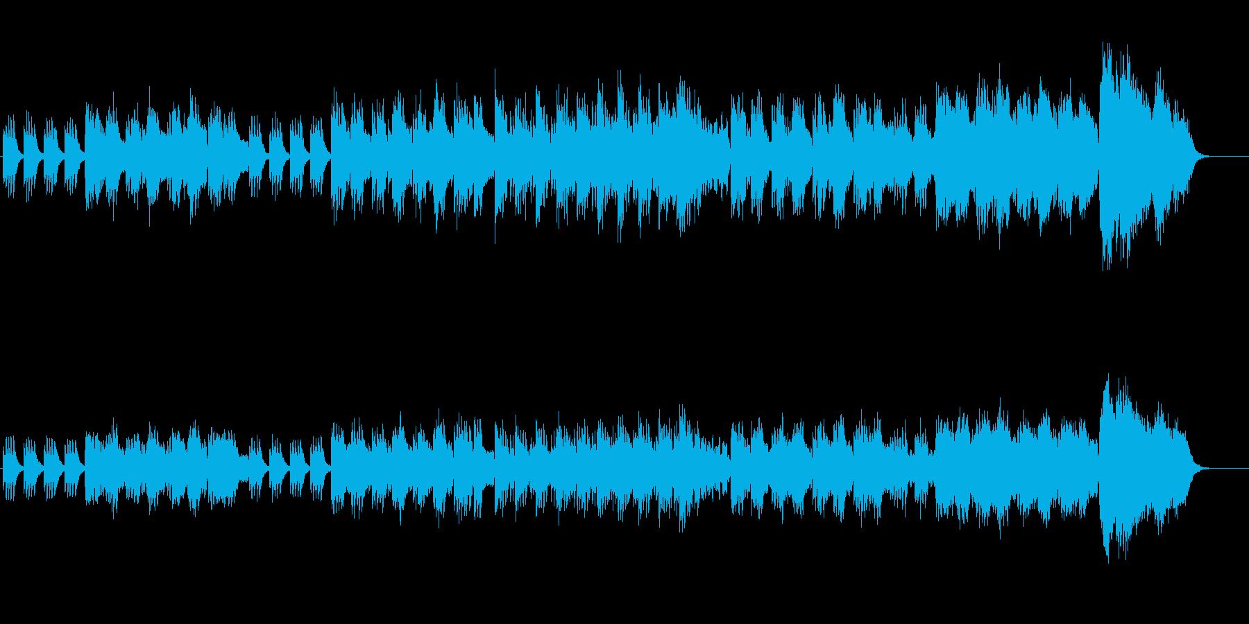 尺八風の音色で構築した邦楽サウンドの再生済みの波形