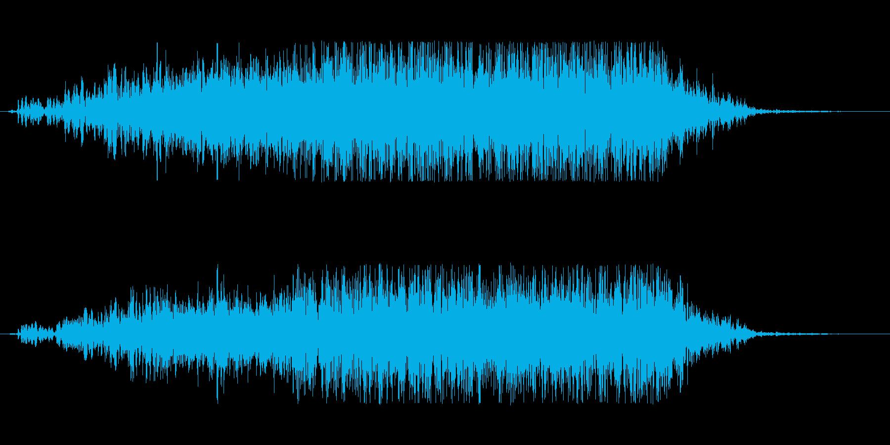 首が動くときの音。ホラーの再生済みの波形
