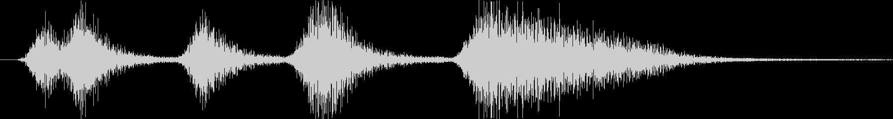 緊張感を意識した短いシーン効果音です。の未再生の波形