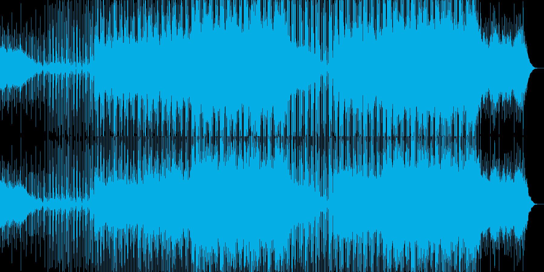 明るい躍動、壮大なメロディー、エレクトロの再生済みの波形