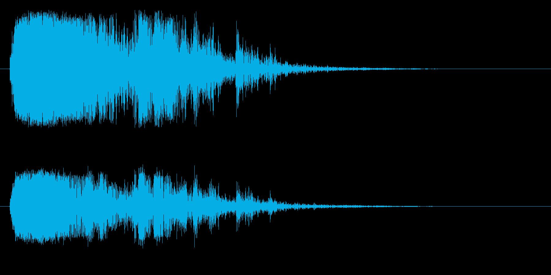 ガチャガチャ(金属がぶつかる音)の再生済みの波形