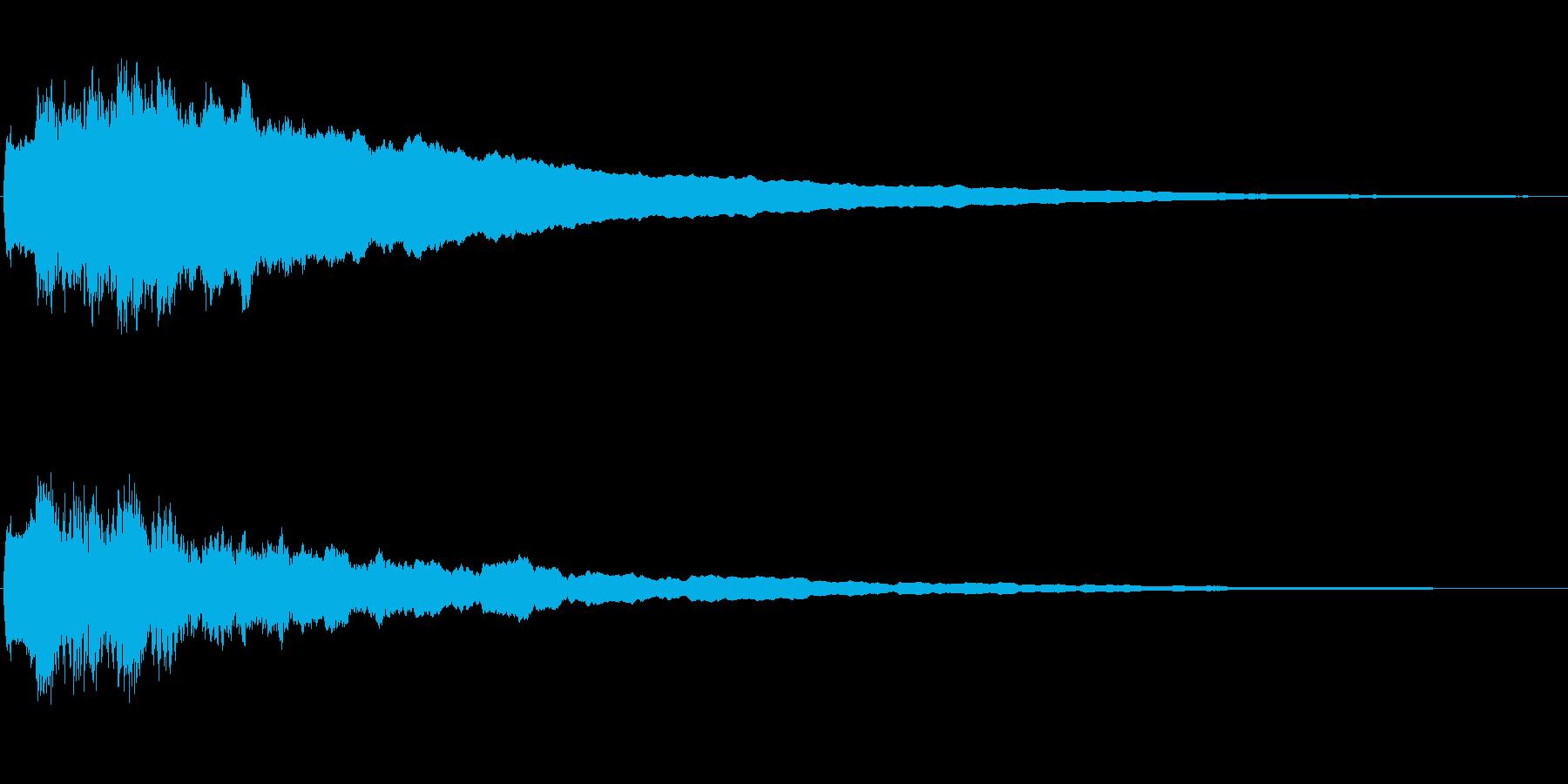 ジングル102aの再生済みの波形