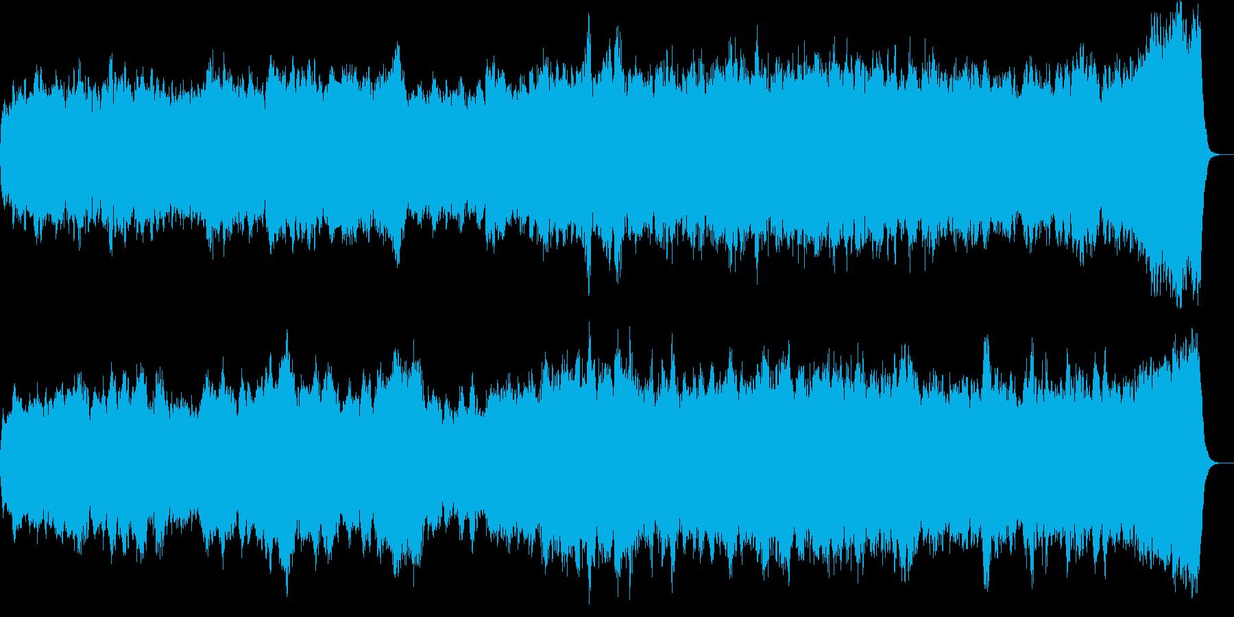 パイプオルガンオリジナル教会音楽の再生済みの波形