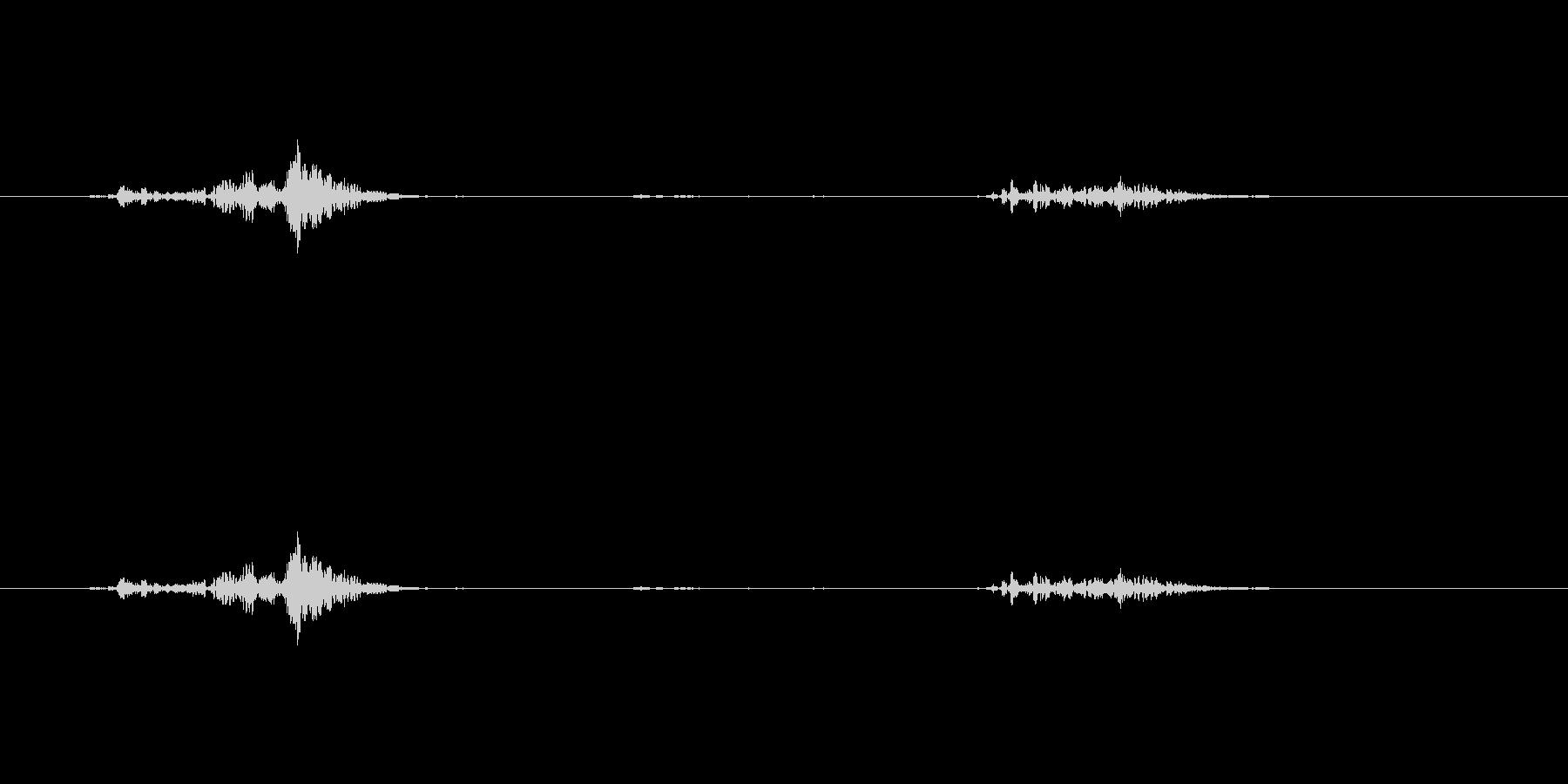 きゅうりをシャキシャキと噛む音の未再生の波形