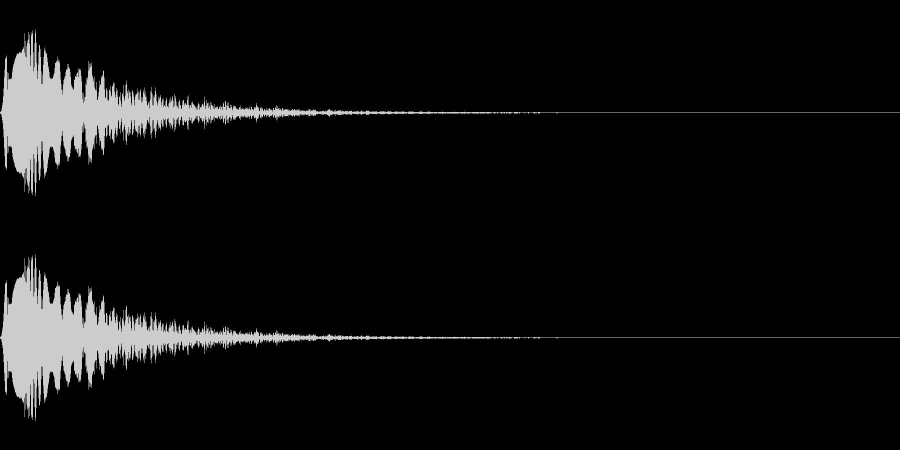 クリック、ボタンなど(電子音/ポン)の未再生の波形
