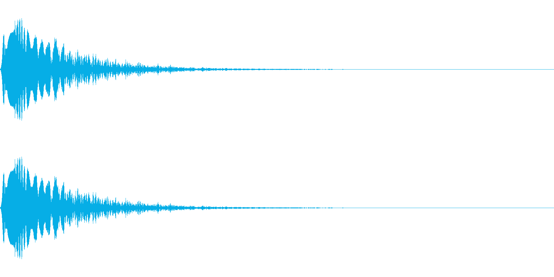クリック、ボタンなど(電子音/ポン)の再生済みの波形