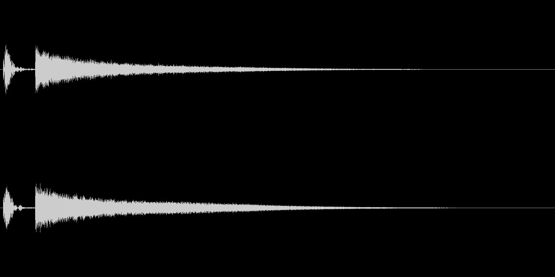 びっくり・図星をつかれた際の効果音の未再生の波形