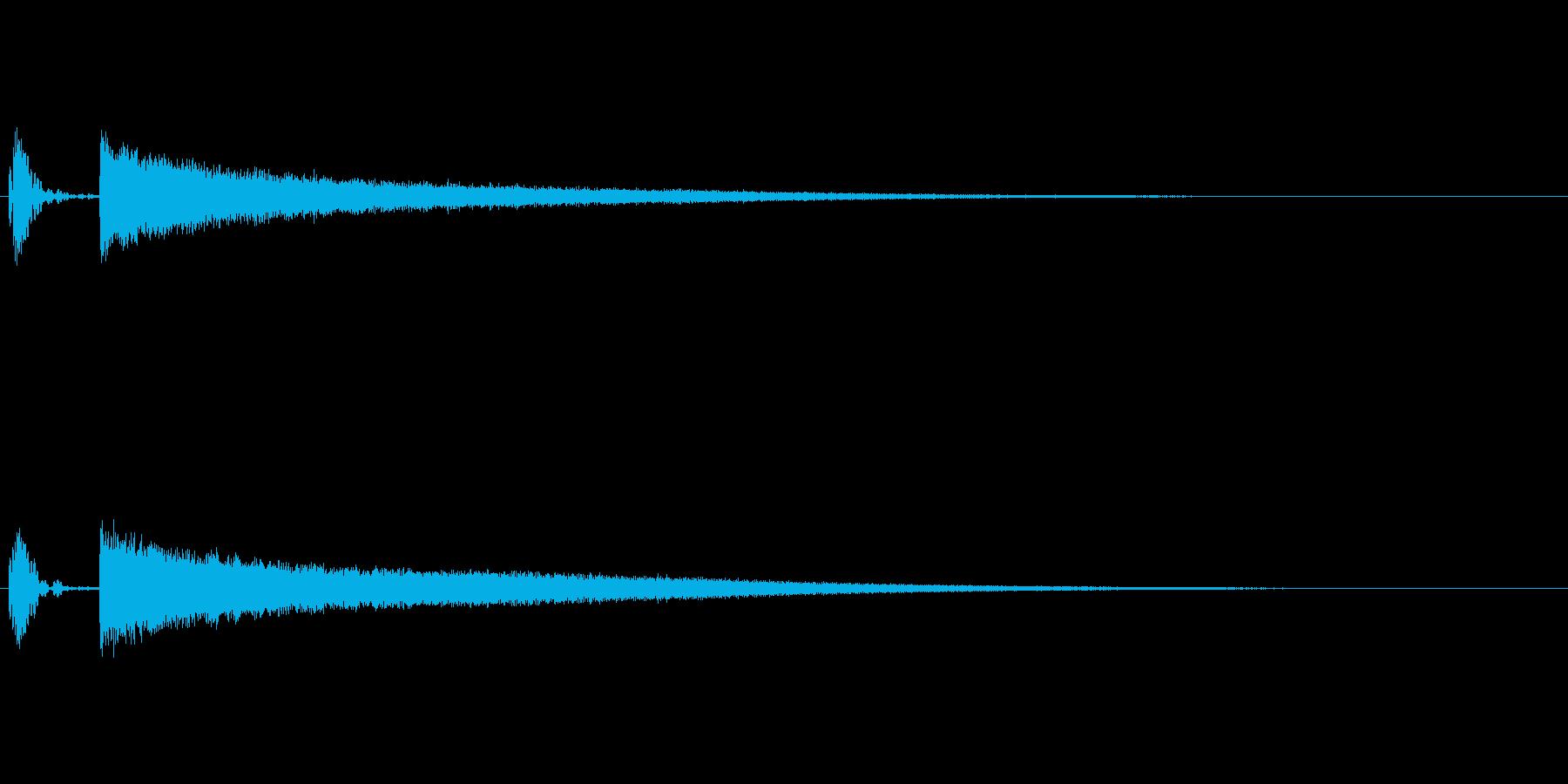 びっくり・図星をつかれた際の効果音の再生済みの波形