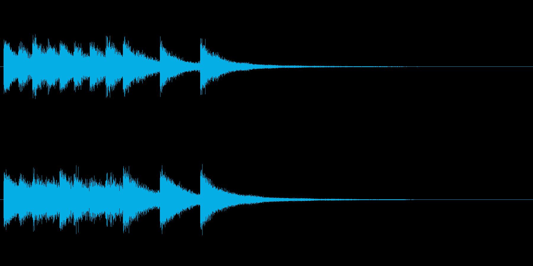 【結果発表02-1】の再生済みの波形
